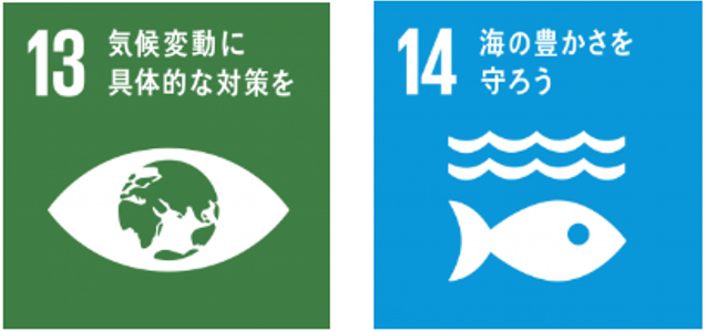 SDGs 13 14