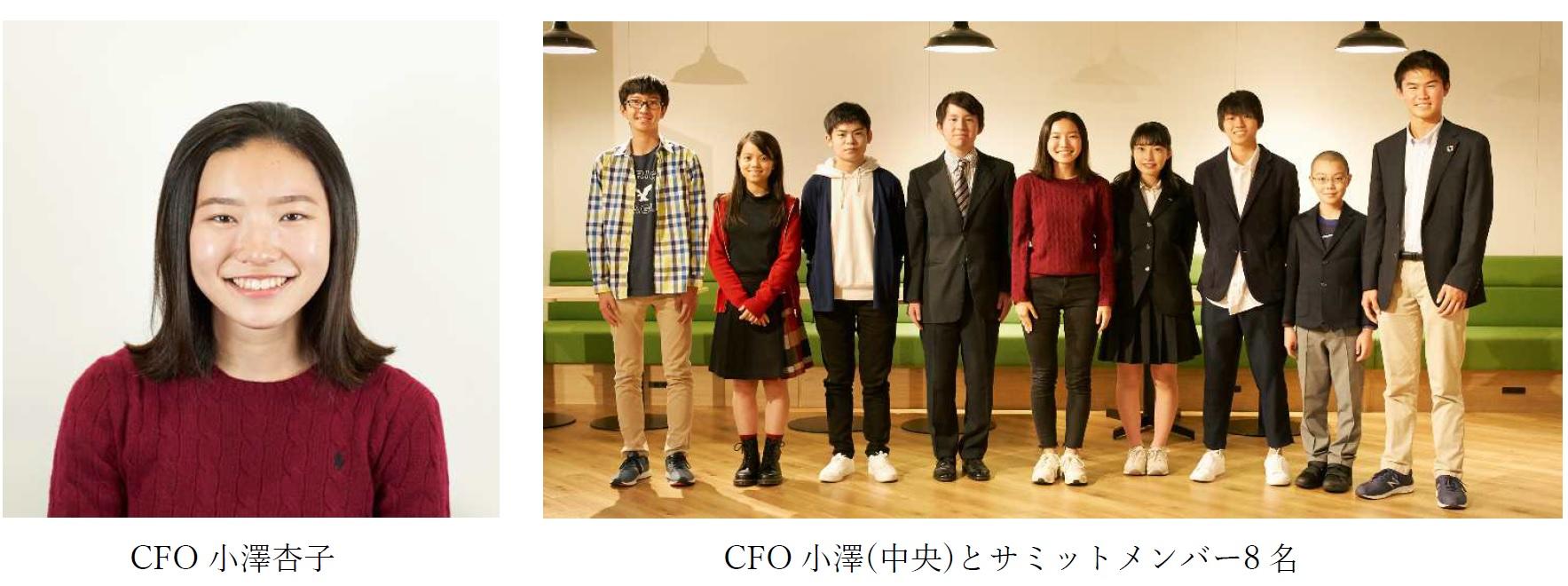 CFO小澤杏子&CFO小澤(中央)とサミットメンバー8名