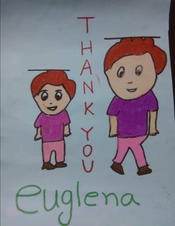 世界ビスケットの日に子どもたちが描いてくれたメッセージ