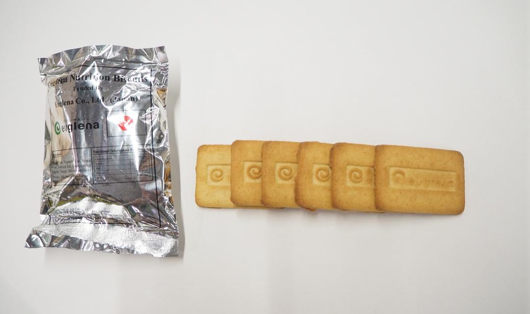 GENKIプログラムで配布しているユーグレナクッキー(6枚/袋入り)